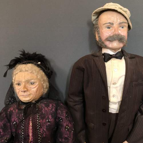A Very Unusual Pair Of Papier Mache Figures image-1