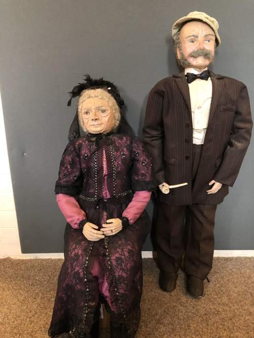 A Very Unusual Pair Of Papier Mache Figures image-5