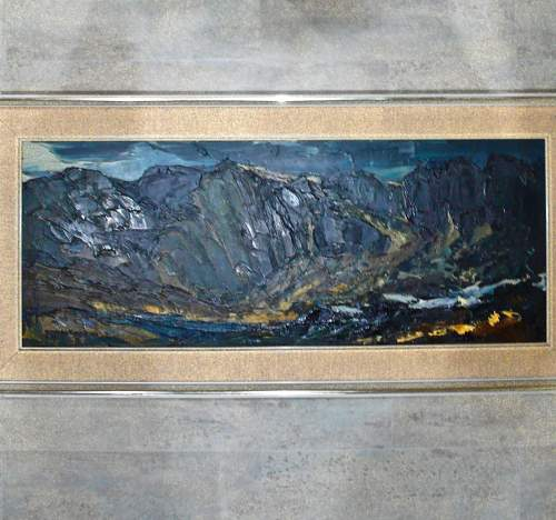Cegin Y Diawl Original Oil on Panel by Donald McIntyre image-1
