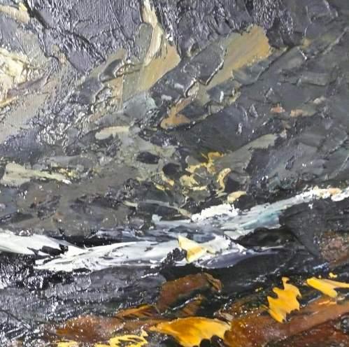 Cegin Y Diawl Original Oil on Panel by Donald McIntyre image-2