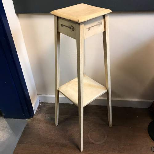 Rustic Painted Plant Stand image-1
