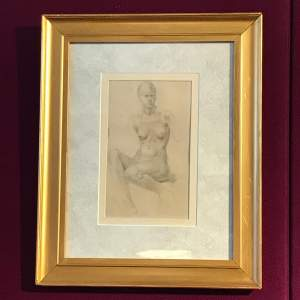Augustus John style Nude Drawing