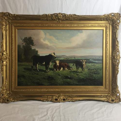George Henry Hall 19th Century Oil Painting image-1