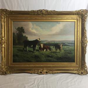 George Henry Hall 19th Century Oil Painting