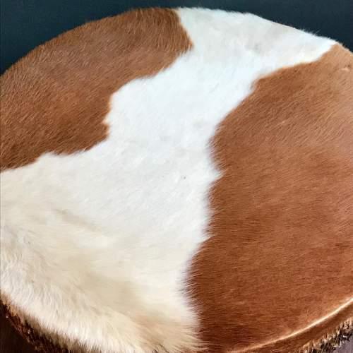 Large Cowhide Drum Coffee Table image-2