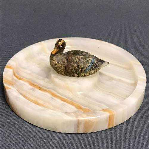 Cold Painted Bronze Model Of a Mallard image-1