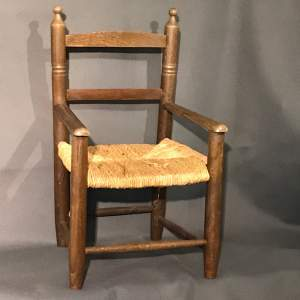 1920s Childrens Rush Seated Chair