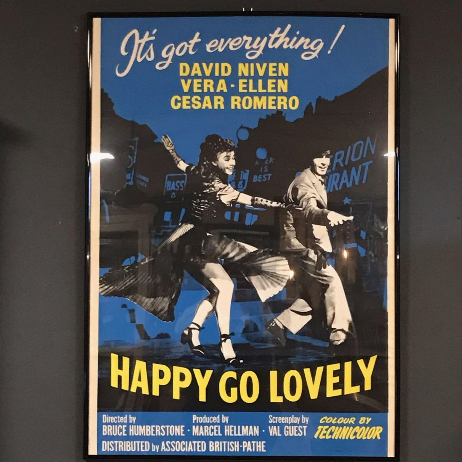 Original Print Ad 1951 Movie Happy Go Lovely David Niven Technicolor Romero Collectibles