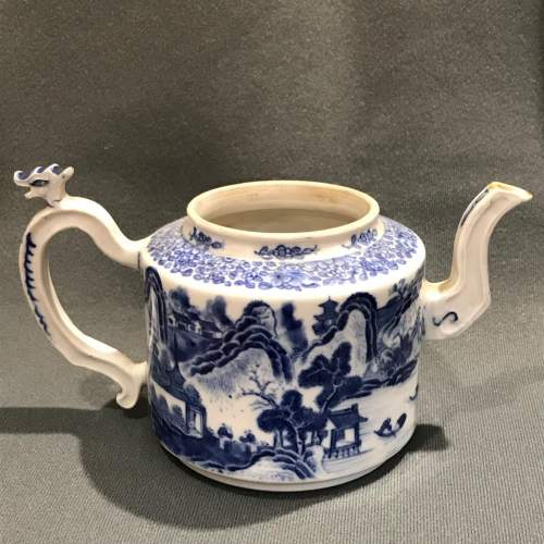 Qianlong Period Chinese Blue and White Teapot image-4