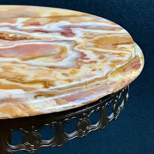 Decorative Small Alabaster Top Table image-4
