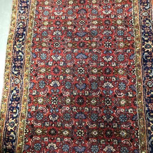 Superb Quality Old Hand Knotted Persian Runner Rug Bidjar
