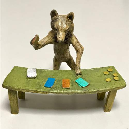 Rare Cold Painted Austrian Bronze Fox Croupier image-4