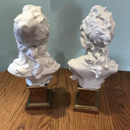 Pair of Royal Worcester Busts of Day and Night image-4