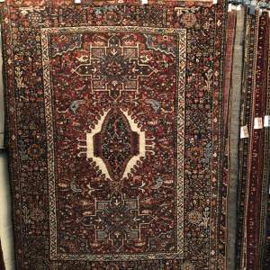Old Hand Knotted Persian Rug Karaja