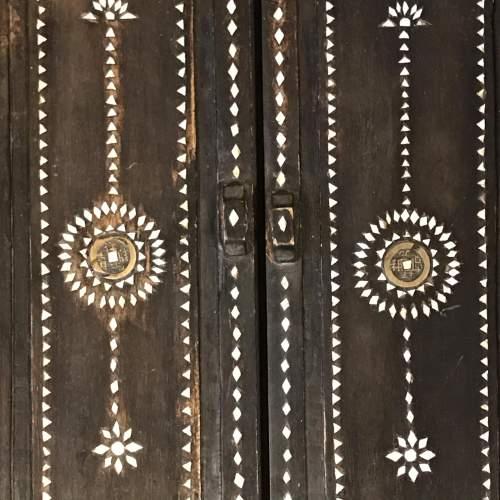Oriental Inlaid Mother Of Pearl Hardwood Window Frame image-2