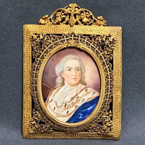 Antique Portrait Miniature of Louis XVI image-1