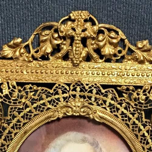 Antique Portrait Miniature of Louis XVI image-2