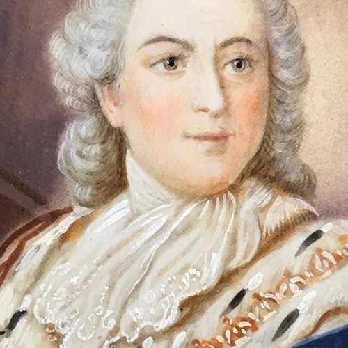 Antique Portrait Miniature of Louis XVI image-3