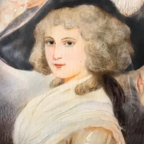 Antique Portrait Miniature of Lady Halled image-3