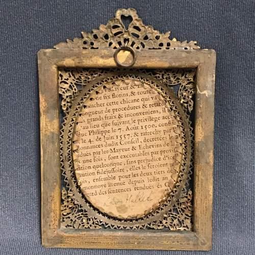 Antique Portrait Miniature of Lady Halled image-4