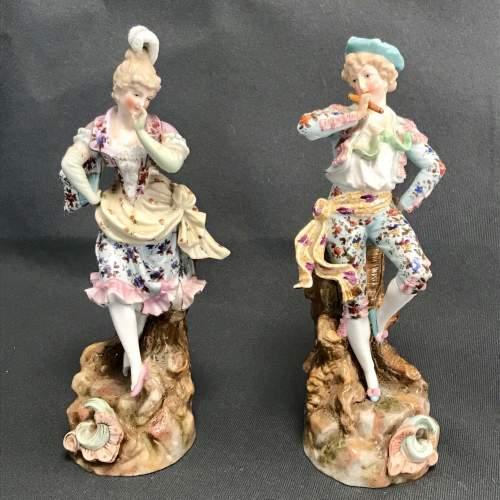 Pair of Quality Figurines by Rudolstadt Ernst Bohne Sohne image-1