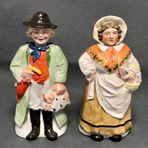 Pair of 19th Century Nodding Figures image-1