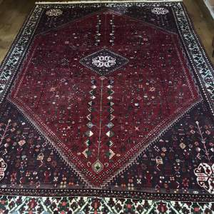 Superb Old Hand Knotted Persian Rug Abadeh Near Quashqai