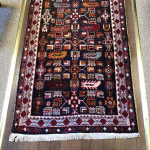 Superb Old Hand Knotted Kurdish Runner Rug Very Unusual Piece