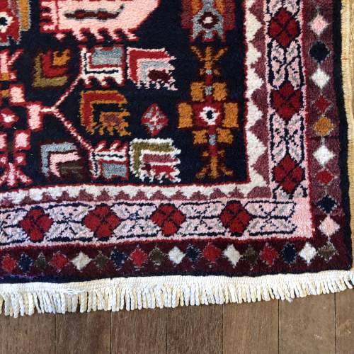 Superb Old Hand Knotted Kurdish Runner Rug Very Unusual Piece image-3