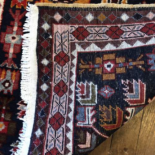Superb Old Hand Knotted Kurdish Runner Rug Very Unusual Piece image-4