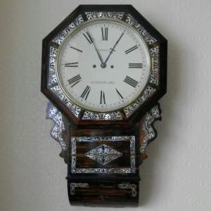 English 19th Century Drop Dial Wall Clock