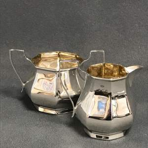 George V Silver Cream Jug and Sugar Bowl