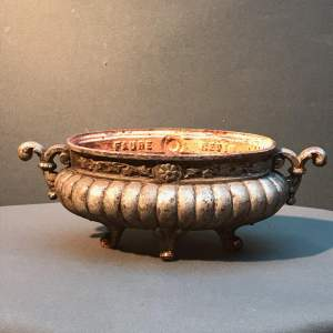 19th Century French Oval Cast Iron Jardiniere