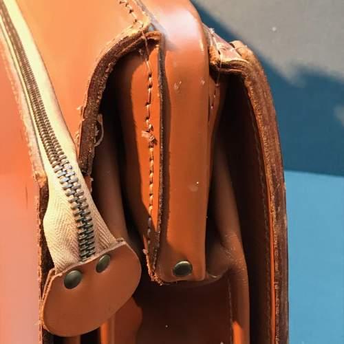Vintage Tan Cowhide Leather Briefcase image-6