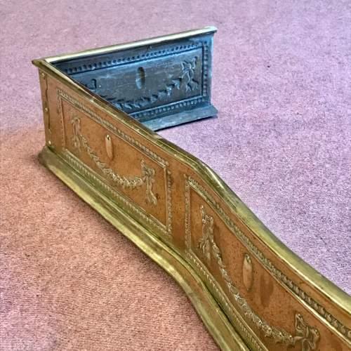 Regency Period Serpentine Brass Fender image-4