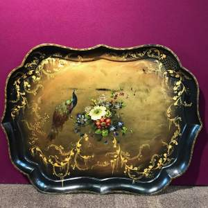 Early Victorian Large Papier-mâché Tray