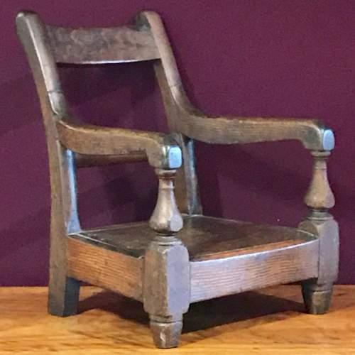 19th Century Scumble Pine Childs Armchair image-1