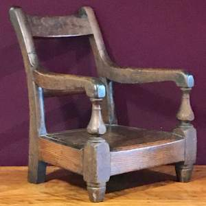 19th Century Scumble Pine Childs Armchair