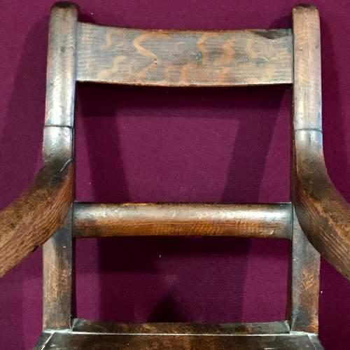 19th Century Scumble Pine Childs Armchair image-2