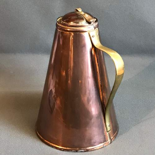 W.A.S Benson Arts and Crafts Copper Jug image-1