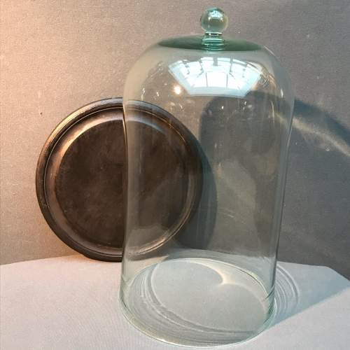Tall Glass Dome with Base image-1