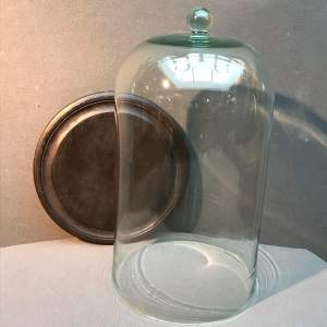 Tall Glass Dome with Base