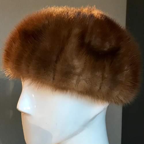 Harrods Vintage Mink Fur Hat image-1