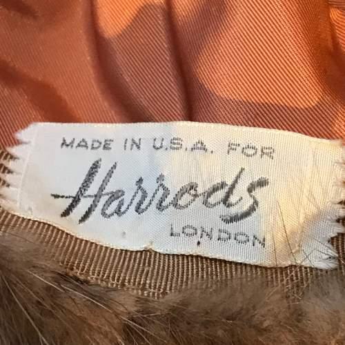 Harrods Vintage Mink Fur Hat image-4
