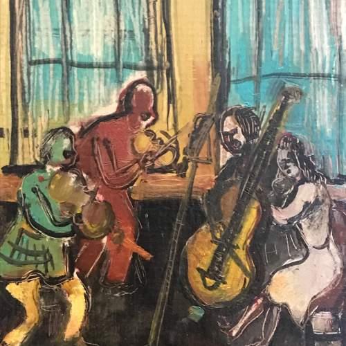 Alexander Bauernfreund Oil on Card of the Quartet image-2