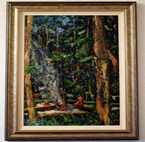 In The Jungle By Timmy Mallett Original Oil on Canvas image-1