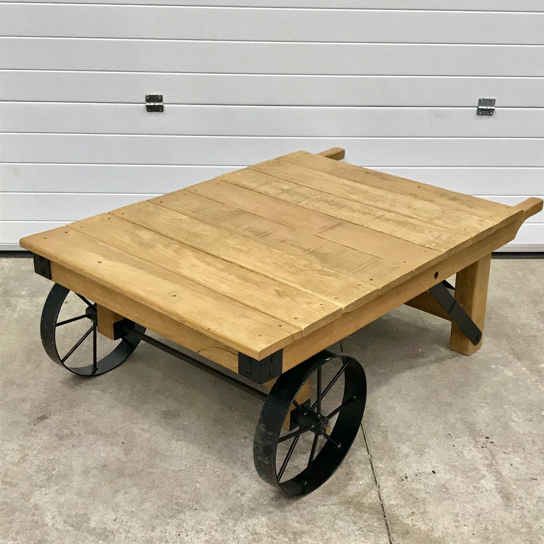 Trolley Coffee Table.Vintage Industrial Trolley Coffee Table