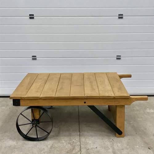 Vintage Industrial Trolley Coffee Table image-4