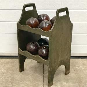 Vintage Bowling Ball Stand