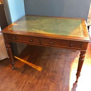 Mid 19th Century Mahogany Partners Writing Table